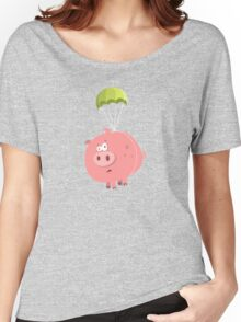 Flying Pig Women's Relaxed Fit T-Shirt
