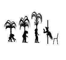 Evolution of the Pole Dancer Photographic Print
