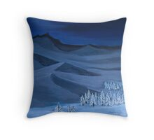 Late night on the mountain Throw Pillow