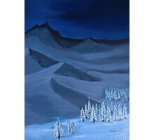 Late night on the mountain Photographic Print