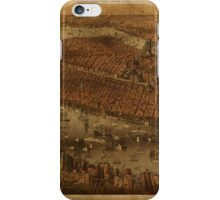 Map of New York City 1875 iPhone Case/Skin