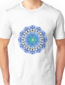 BLUE OM MANDALA Unisex T-Shirt