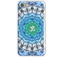 BLUE OM MANDALA iPhone Case/Skin