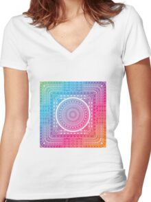 Tribal - Angles Women's Fitted V-Neck T-Shirt