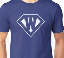 W letter in Superman style Unisex T-Shirt