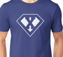 X letter in Superman style Unisex T-Shirt