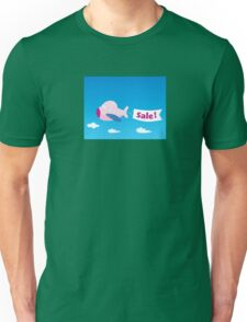 Flight sale! Flying Airplane with promotional banner Unisex T-Shirt