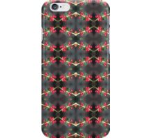 holly berry macro pattern iPhone Case/Skin