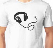 Headphones music Unisex T-Shirt