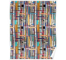 Graphic pattern of geometric stripes Poster