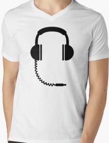 Headphones music sound Mens V-Neck T-Shirt