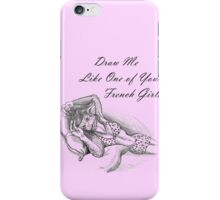 French Girl Greta iPhone Case/Skin