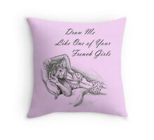 French Girl Greta Throw Pillow