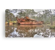 Rusting Dredging Boat on the Goldfields Metal Print
