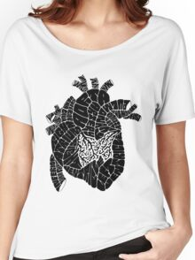 Typographic heart -black Women's Relaxed Fit T-Shirt