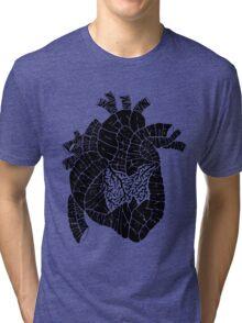 Typographic heart -black Tri-blend T-Shirt