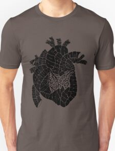 Typographic heart -black Unisex T-Shirt