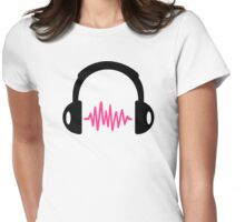 Headphones Frequency Womens Fitted T-Shirt