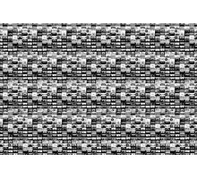 black and white tape illustration  Photographic Print