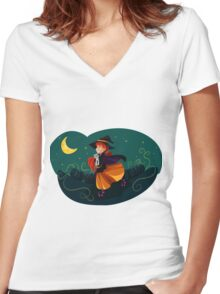 Out flying Women's Fitted V-Neck T-Shirt