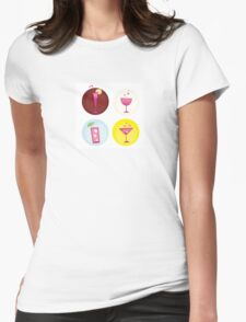 Drinks iconset. Mix of summer hot drinks Womens Fitted T-Shirt