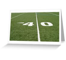 Football Field Forty Greeting Card