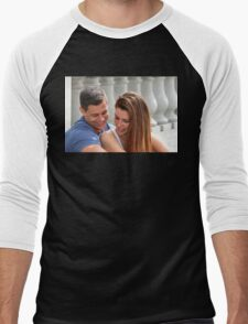 Young Couple Bridge Men's Baseball ¾ T-Shirt