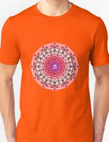 RED OM MANDALA Unisex T-Shirt