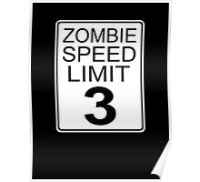 Zombie Speed Limit Poster
