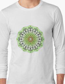 GREEN OM MANDALA Long Sleeve T-Shirt