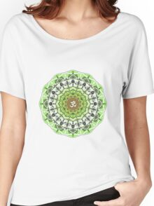 GREEN OM MANDALA Women's Relaxed Fit T-Shirt