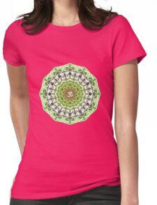 GREEN OM MANDALA Womens Fitted T-Shirt