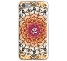 ORANGE OM MANDALA iPhone Case/Skin