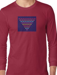 Space Invaders. Illustration of space aliens Long Sleeve T-Shirt