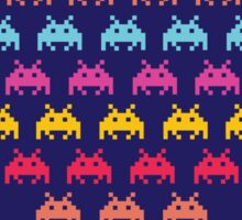 Space Invaders. Illustration of space aliens Sticker