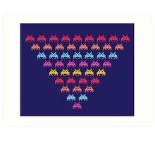 Space Invaders. Illustration of space aliens Art Print