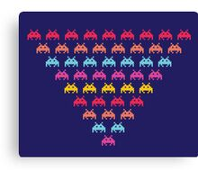 Space Invaders. Illustration of space aliens Canvas Print