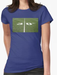 Football Field Thirty Womens Fitted T-Shirt
