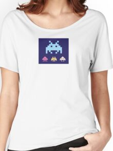 Space Invaders. Illustration of space aliens. Vector format. Women's Relaxed Fit T-Shirt