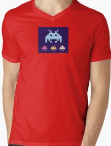 Space Invaders. Illustration of space aliens. Vector format. Mens V-Neck T-Shirt