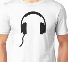 Headphones symbol Unisex T-Shirt