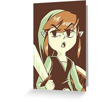 """I'm NOT Your Princess"" - Toon Link - Wind Waker  Greeting Card"