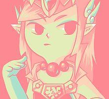 Toon Princess Zelda - Wind Waker  by Rock-Bomber