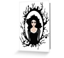 I keep my dark thoughts deep inside. Greeting Card