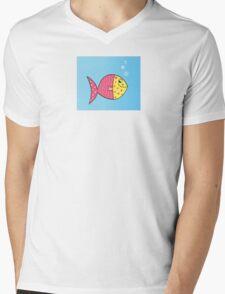 Cartoon Fish. Cute colorful fish Mens V-Neck T-Shirt