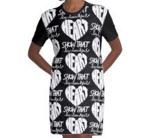 Show That Big Beautiful Heart Graphic T-Shirt Dress