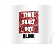 Thou shall not blink Poster