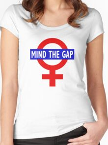 Mind the gender gap Women's Fitted Scoop T-Shirt