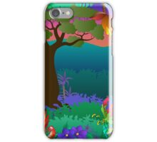 baobab tree scene iPhone Case/Skin