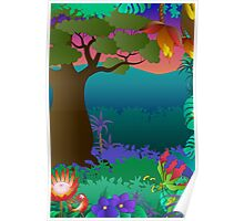 baobab tree scene Poster